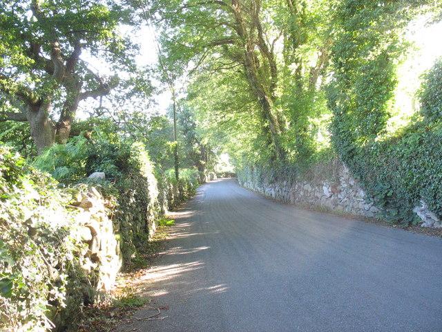 The Dolgellau to Llanfachreth road west of Garth Bleuddyn