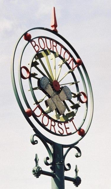 Bourton: village sign