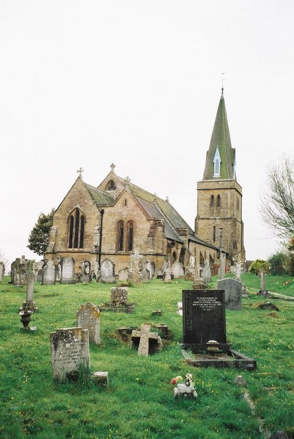 Bradpole church: rear view