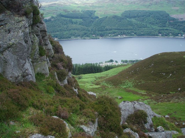 Looking down on the Ardtrostan Caravan site, Loch Earn