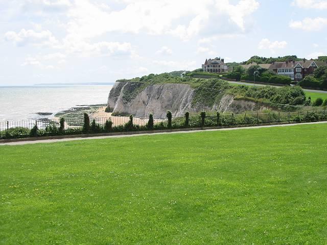 View across the cliff tops at Dumpton Gap