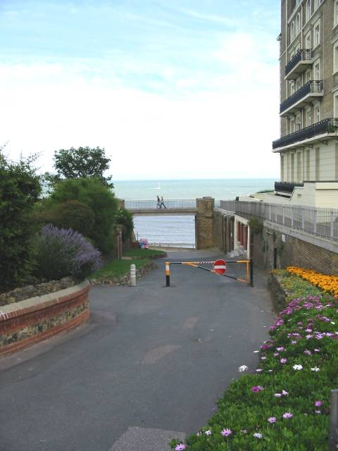 Roadway down to the beach, Broadstairs