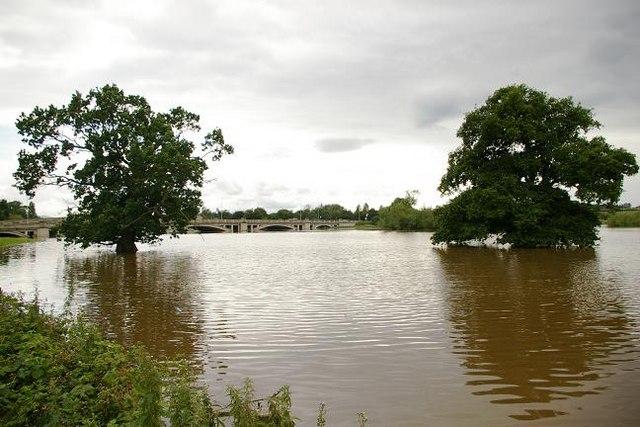Flooding at Atcham 3
