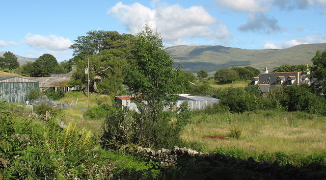 The old and new farmhouses at Ystumgwadnaeth