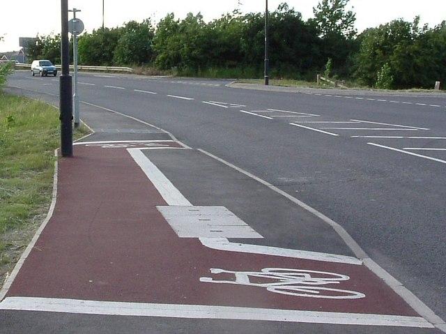 Mexborough's shortest cycle lane