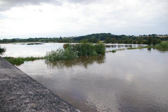 Flooding at Cressage