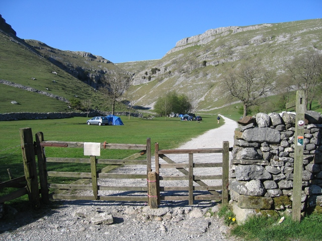 Gordale Camp Site near Gordale Scar
