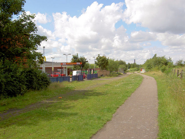 McDonald's on Trans Pennine trail Stairfoot.