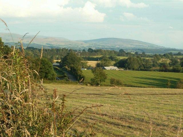 View across fields above Kirkcambeck