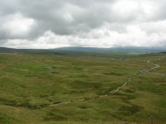 Construction site for Ribblehead viaduct
