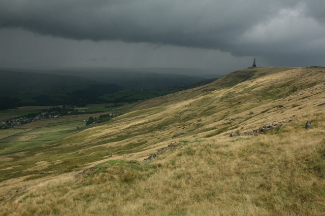 A Storm Brews Over Stoodley Pike.
