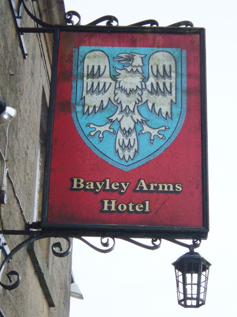 Bayley Arms Hotel pub sign