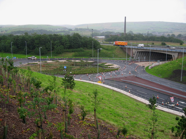 M62 Junction 21  Milnrow