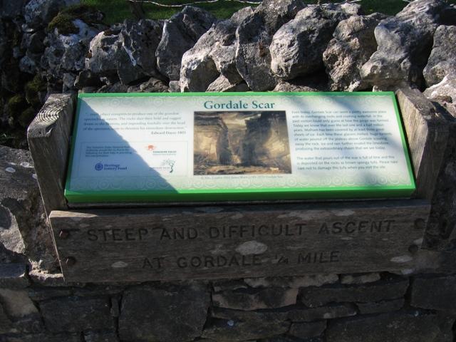 Information Board at Gordale