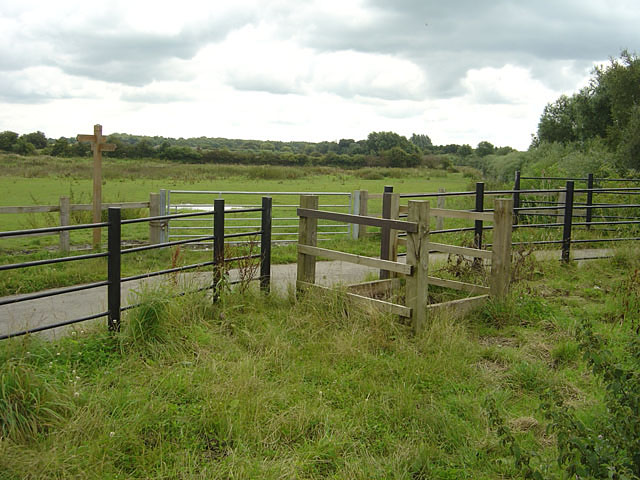 Horse stile on the Doncaster Greenway