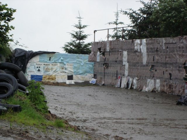Empty silage pit at Vronganllwyd