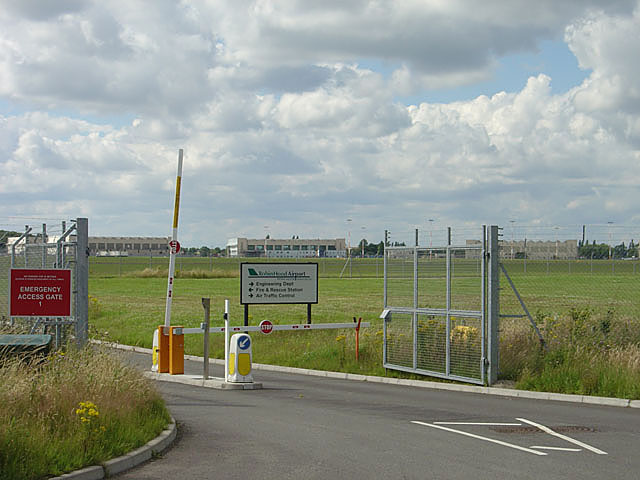 Back entrance to Robin Hood Airport