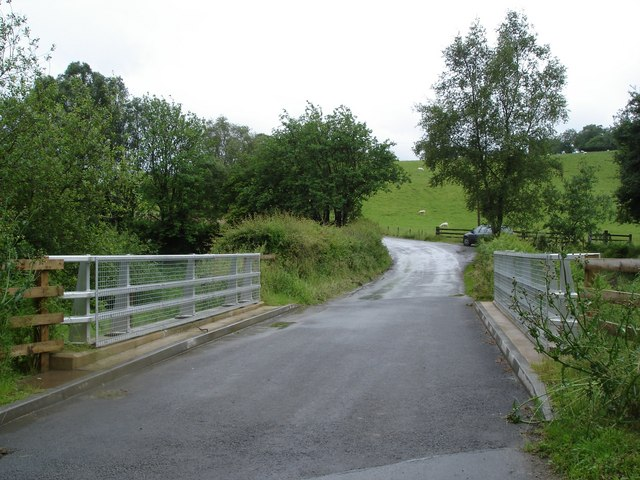 Newly built bridge at Cwm Garthen