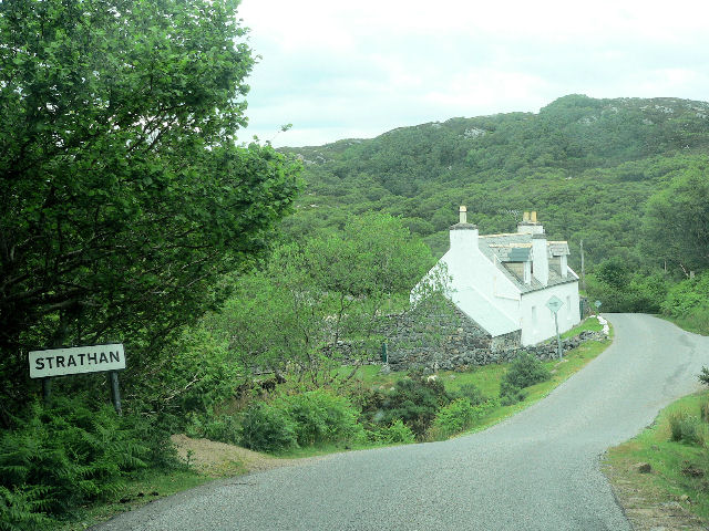 Entrance to Strathan village