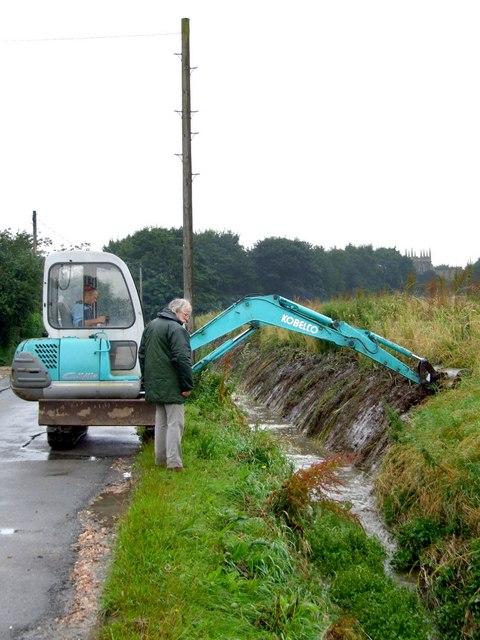 Dyke clearing at Old Bolingbroke