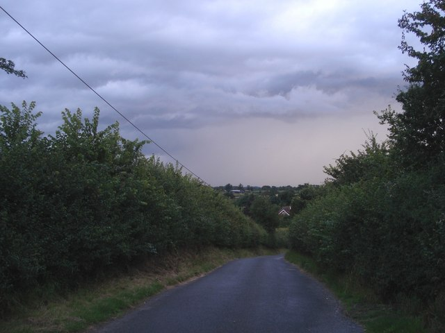 Approaching storm at Dunhampstead