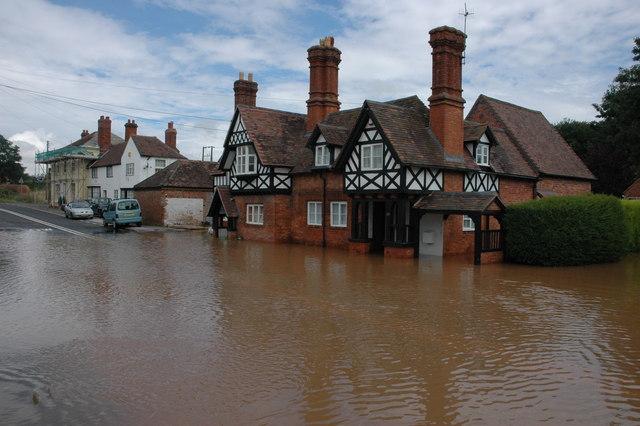 Flooding in Severn Stoke