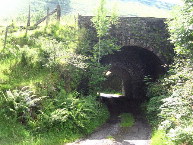 Bridge under the disused Newport to Tredegar railway.