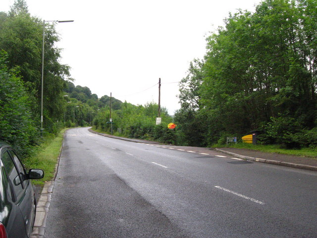 A4048 going towards Hollybush