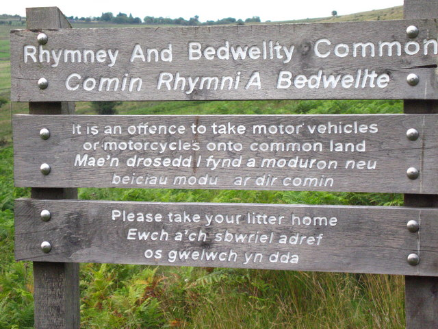 Rhymney and Bedwellty Common Sign.