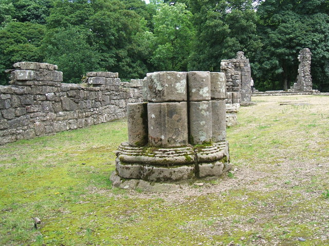 Pillar at Shap Abbey