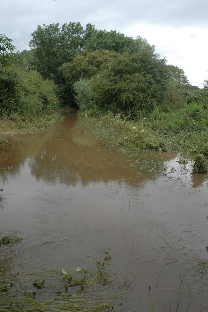 Flooded bridleway from Baughton to Stonehall