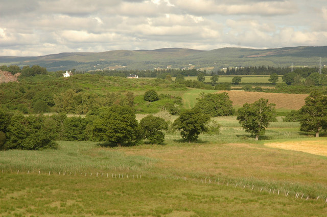 Fields and hillock