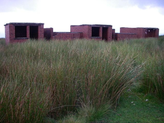 Former observation shelters