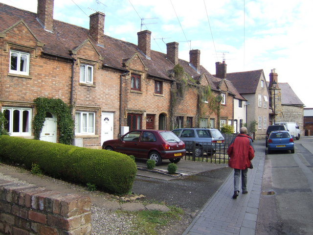Row of town cottages in Church Street, Bengeworth, Evesham