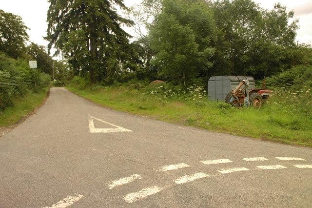 road junction at Camault Muir