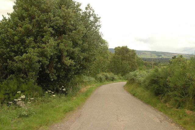 road at Camault Muir