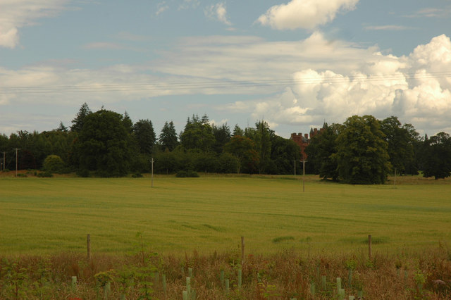 Distant view of Beaufort Castle