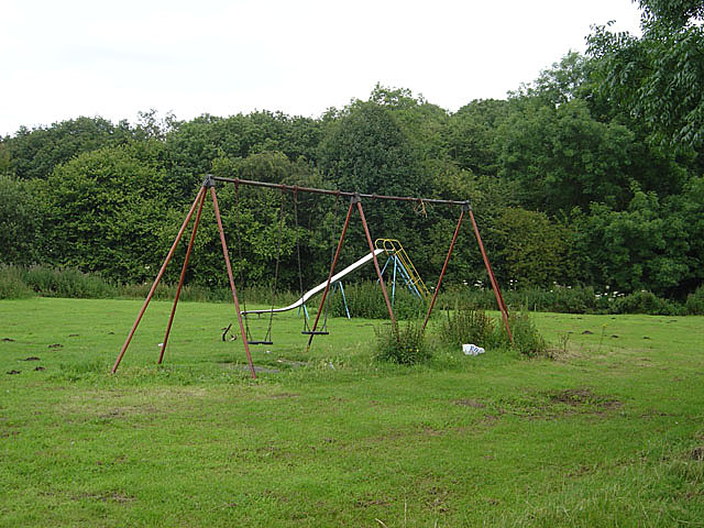 Slide and swings