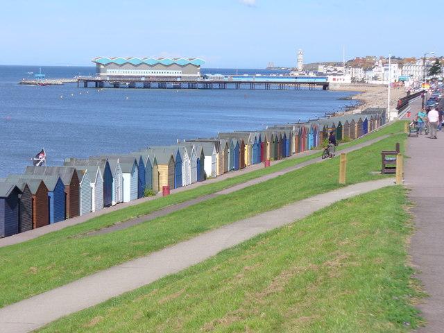Beach Huts Below Western Esplanade
