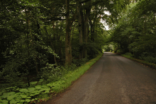road from Inverurie to Burnhervie