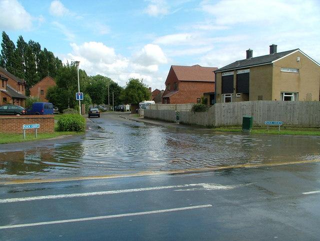 Junction of Tewksbury Road & Plock Court