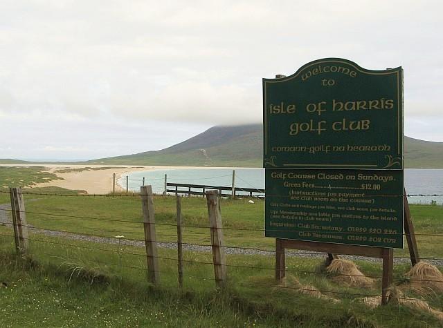 Harris Golf Course Sign 2007