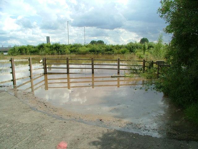 Parking Bay & Footpath flooding