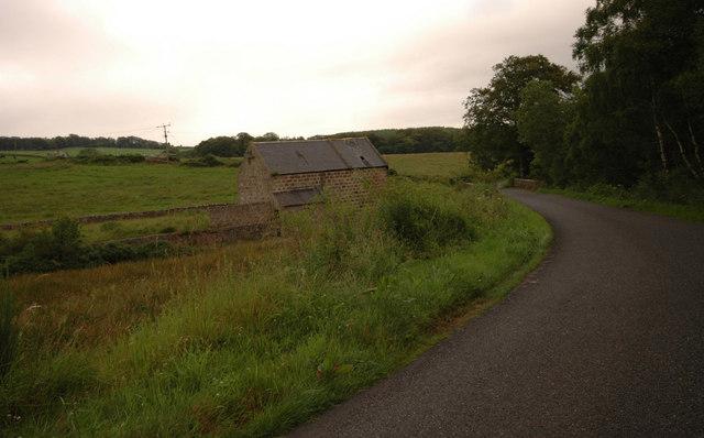 Derelict mill by the Burnhervie-Chapel of Garioch road
