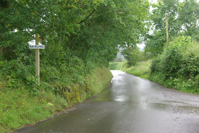 Lane east of Capel-y-Groes