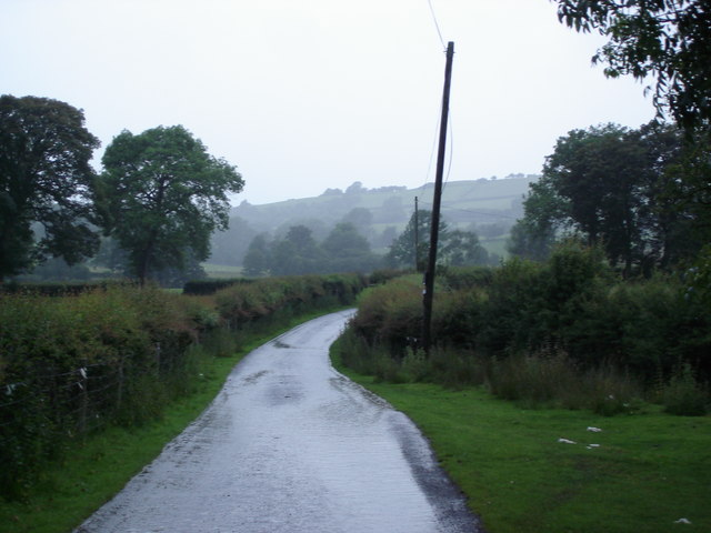 Lane approaching the Camddwr stream