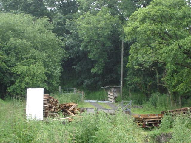 Farmyard scene next to a bridleway