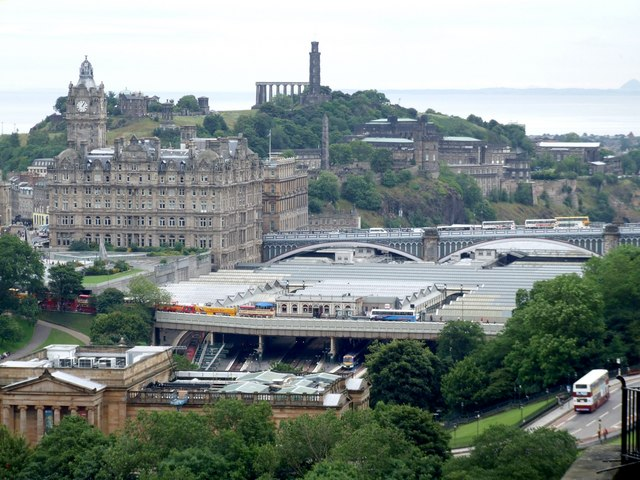 Waverley Station from the Castle, Edinburgh