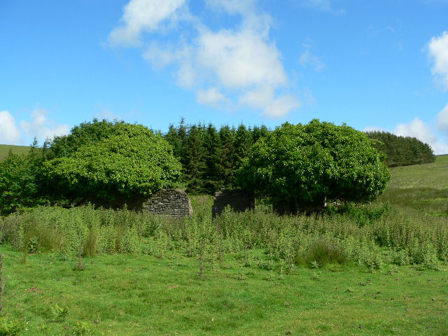 Derelict farm building by The Inch