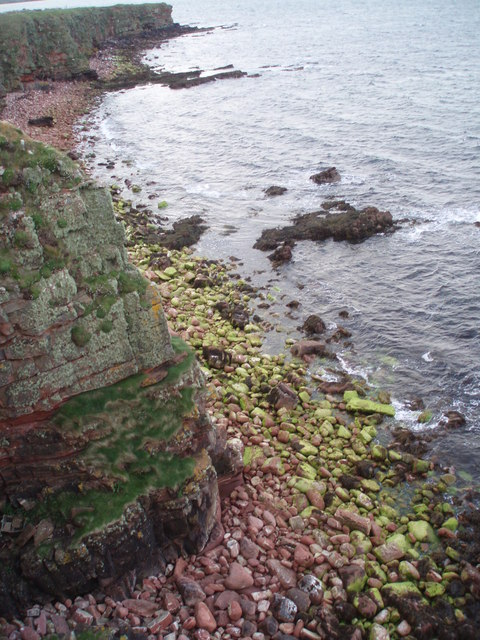 Cliff, Rocks and Sea